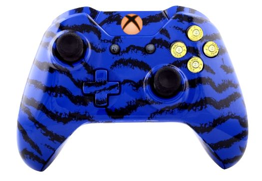 Blue Tiger Hydro-Dipped Xbox O