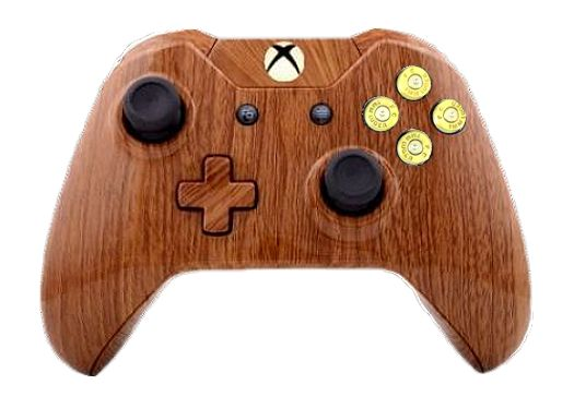 Woodgrain Hydro-Dipped Xbox On