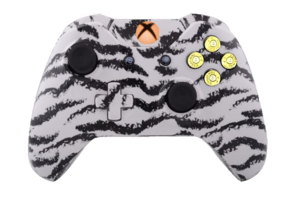 White Tiger Hydro-Dipped Xbox