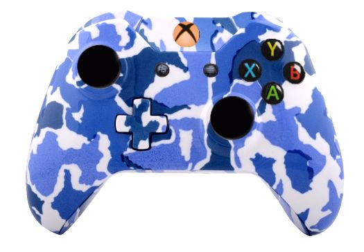 Blue Camo Hydro-Dipped Xbox On