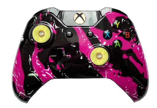 Pink Splatter Hydro-Dipped Xbo