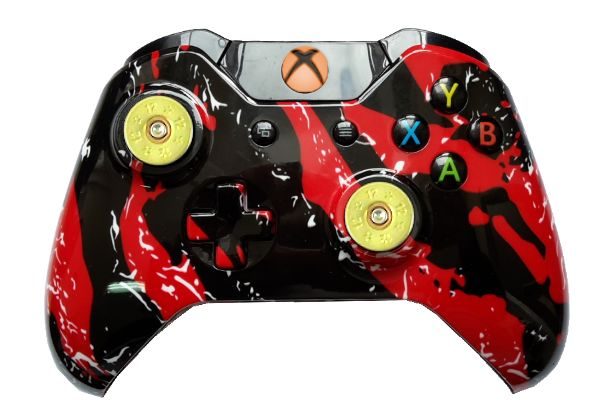 Red Splatter Hydro-Dipped Xbox