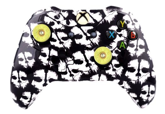 COD Ghost White Hydro-Dipped X