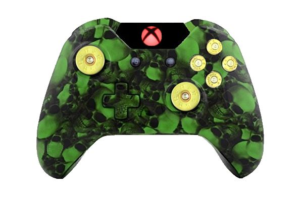 Big Green Skull Hydro-Dipped X