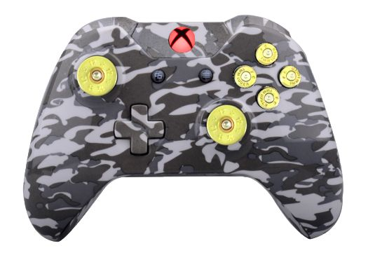 Grey Camo Hydro-Dipped Xbox On