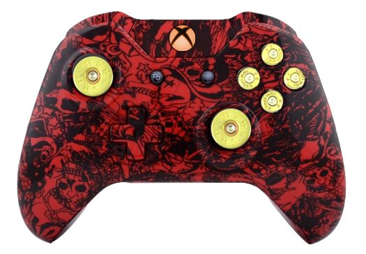 Crazy Red Skull Hydro-Dipped X