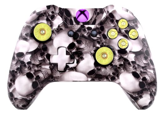 Big White Skull Hydro-Dipped X
