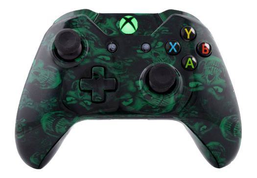 Mad Green Skull Hydro-Dipped X