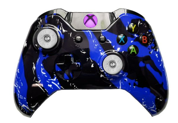 Blue Splatter Hydro-Dipped Xbo