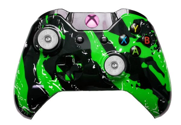 Green Splatter Hydro-Dipped Xb