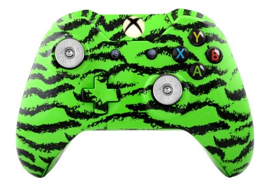Green Tiger Hydro-Dipped Xbox