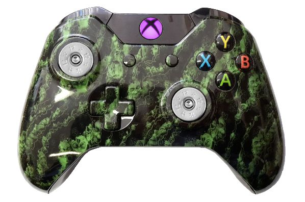 Green Zombie Hydro-Dipped Xbox