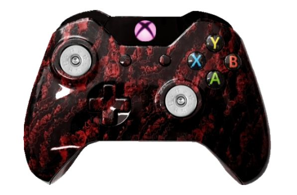 Red Zombie Hydro-Dipped Xbox O