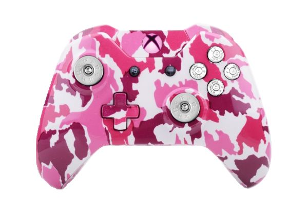 Pink Camo Hydro-Dipped Xbox On