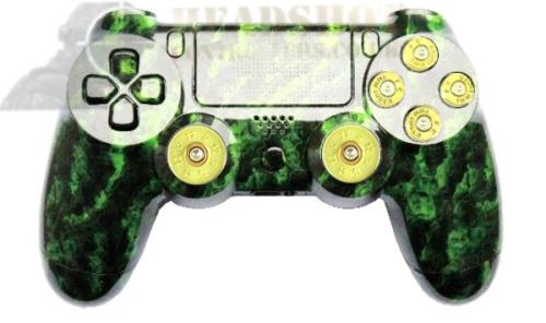 SONY PS4 PLAYSTATION DUAL SHOCK GREEN ZOMBIE HYDRO-DIPPED