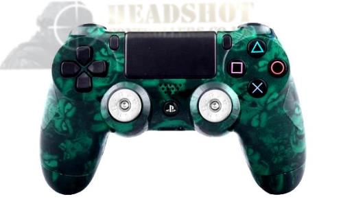 SONY PS4 PLAYSTATION DUAL SHOCK MAD GREEN SKULL HYDRO-DIPPED